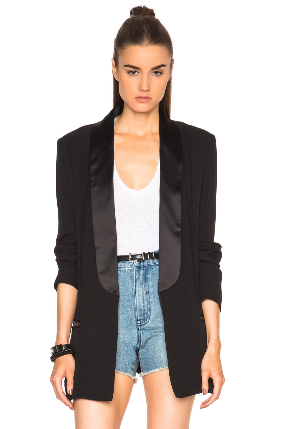 Image 1 of BLK DNM Silk House Blazer 32 in Black