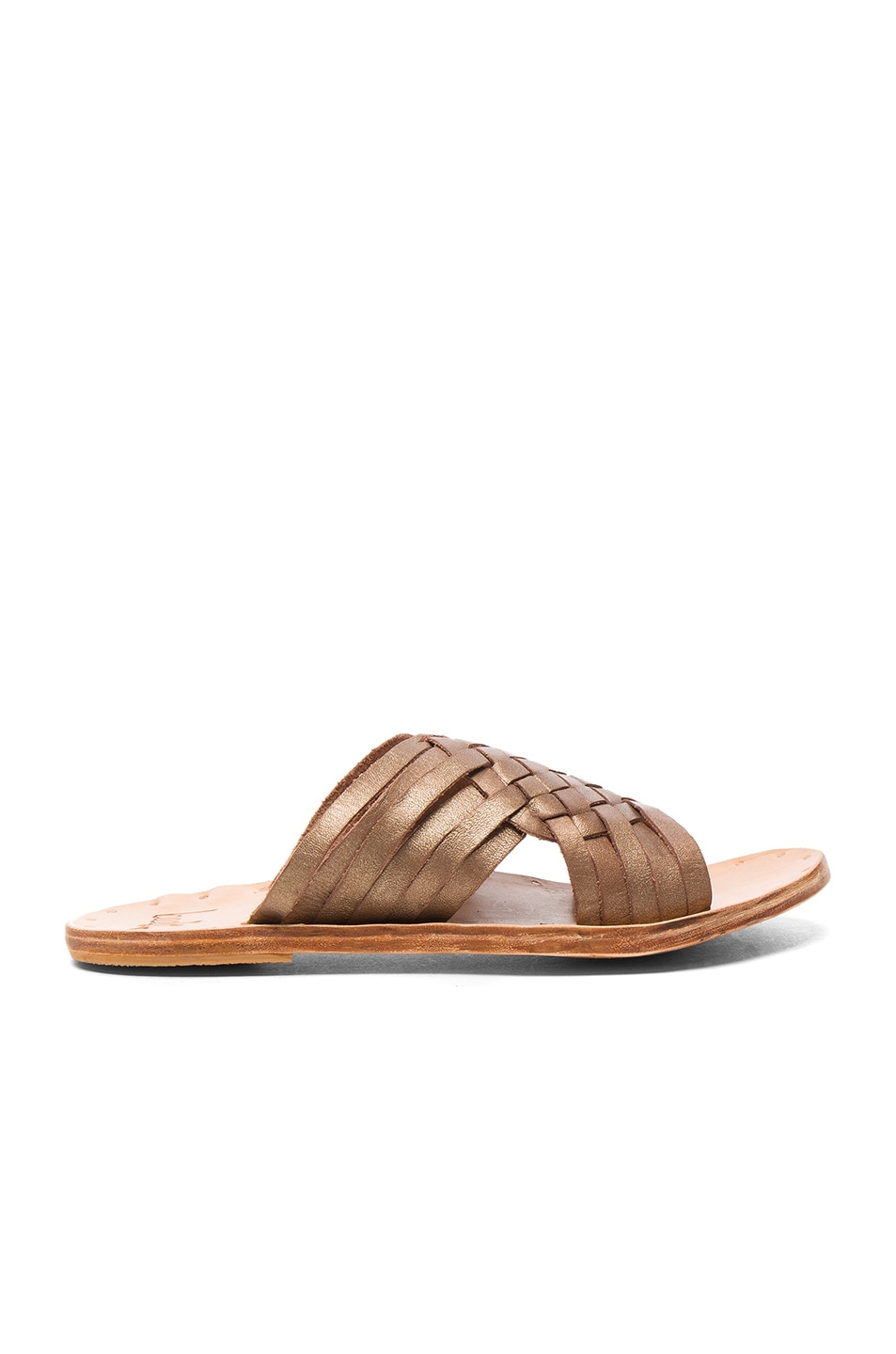 Image 1 of Beek Leather Swallow Sandals in Bronze & Natural