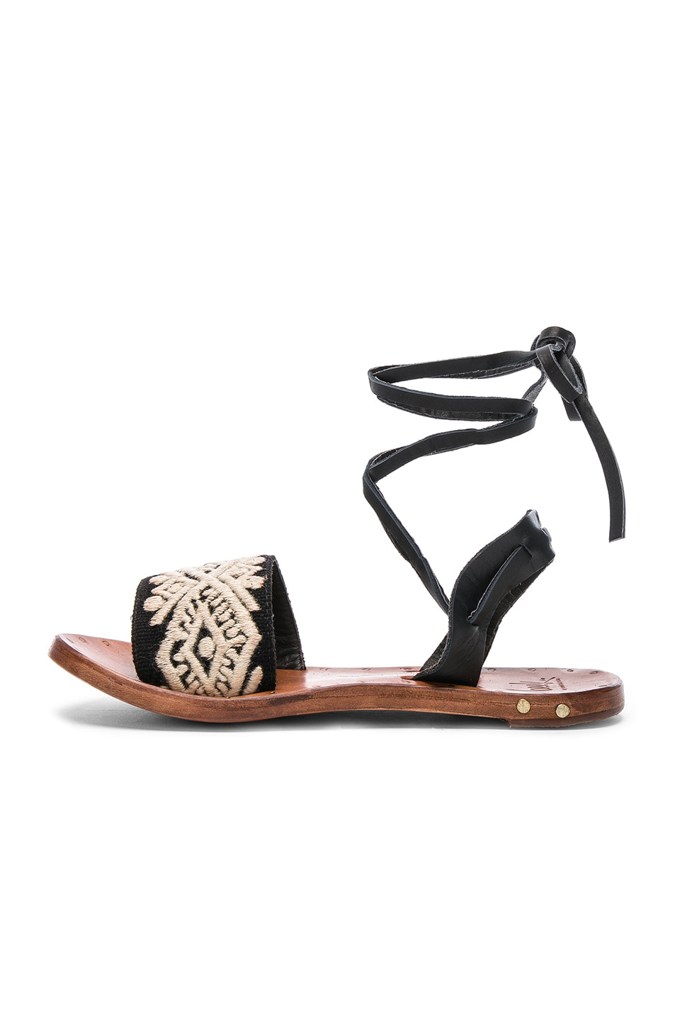 BEEK Leather & Embroidery Toucan Sandals in .