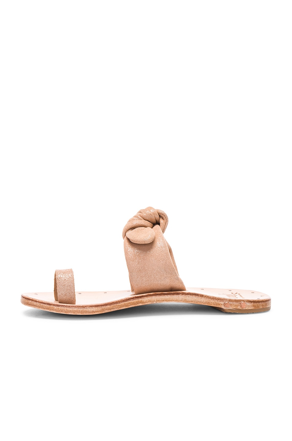 Cheap Buy Authentic BEEK Lory Sandal in Metallic Apricot & Tan Clearance Fast Delivery IywjoS9E