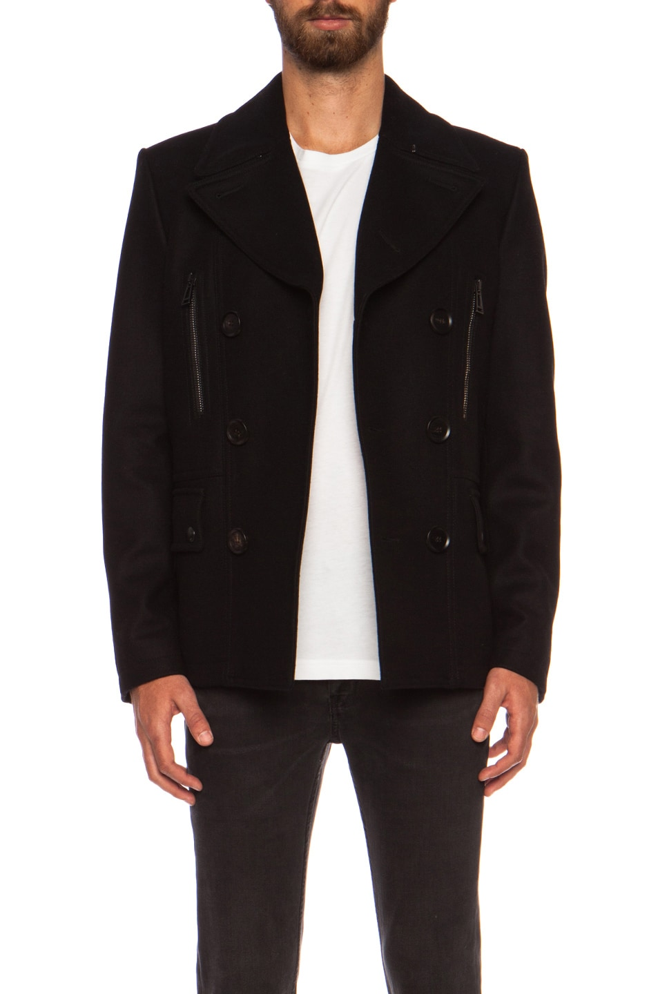4d3b05ee48 Image 1 of Belstaff Harris Wool Cashmere Peacoat in Black