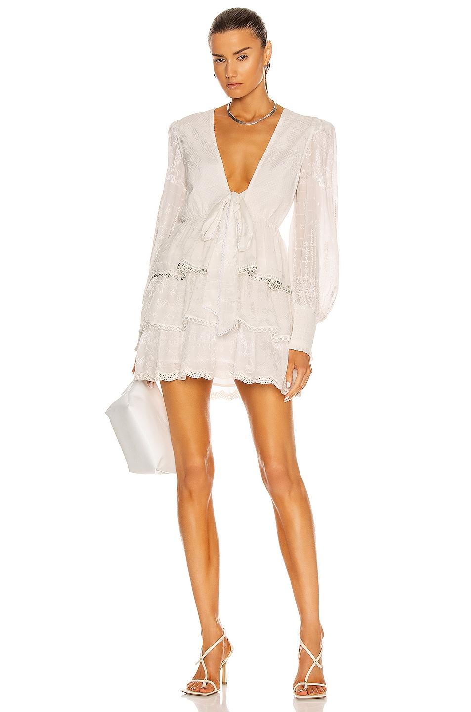 Image 1 of HEMANT AND NANDITA Veda Mini Dress in Off White