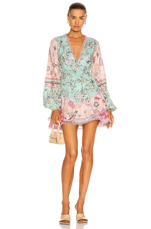Image 1 of HEMANT AND NANDITA Missima Mini Dress in Mixed Pastels