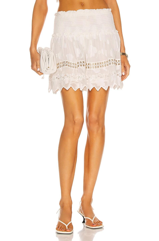 Image 1 of HEMANT AND NANDITA Veda Mini Skirt in Off White