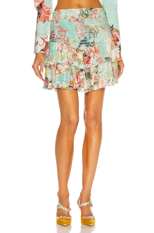 Image 1 of HEMANT AND NANDITA Sage Mini Skirt in Turquoise