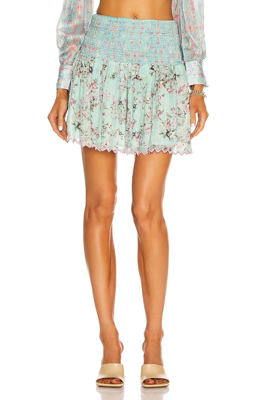 Image 1 of HEMANT AND NANDITA Missima Mini Skirt in Mixed Pastel