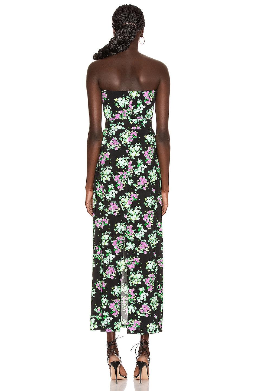 Image 3 of BERNADETTE Carrie Strapless Dress in Roses Black