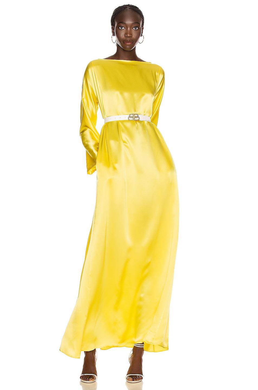 Image 1 of BERNADETTE Katy Long Dress in Primrose Yellow