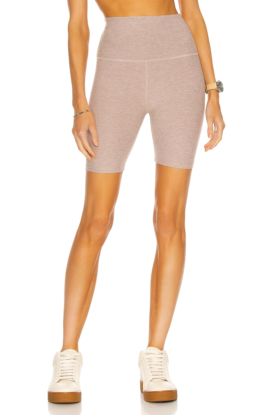 Image 1 of Beyond Yoga Spacedye High Waisted Biker Short in Chai