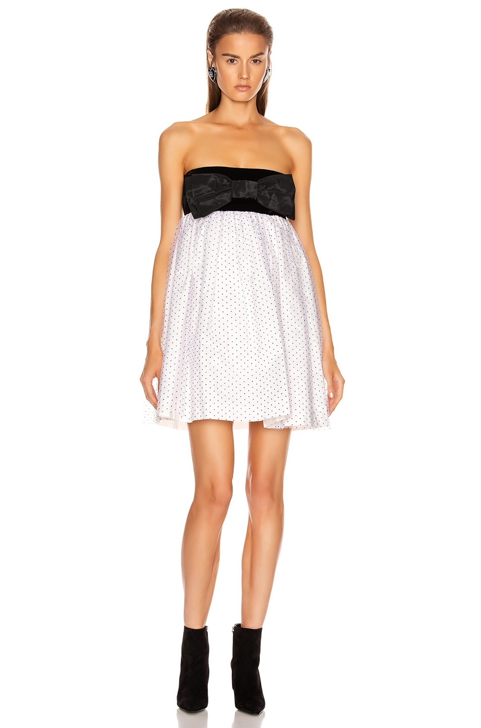 Image 1 of BROGNANO Plumetis Mini Dress in White