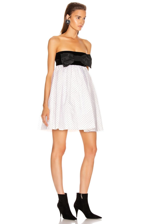 Image 2 of BROGNANO Plumetis Mini Dress in White