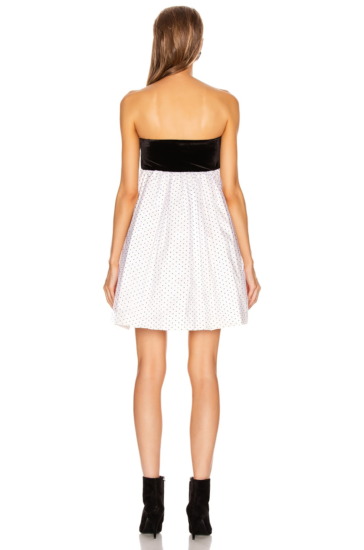 Image 3 of BROGNANO Plumetis Mini Dress in White