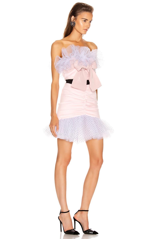 Image 2 of BROGNANO Velvet Mini Dress in Pink