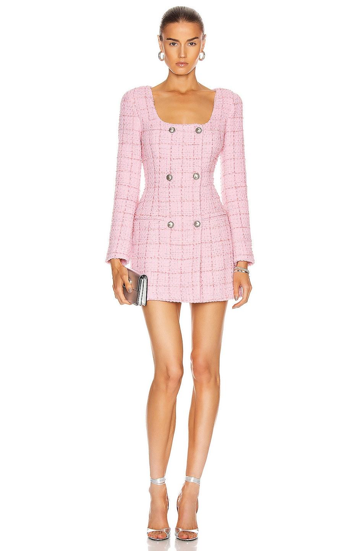 Image 1 of BROGNANO Tweed Mini Dress in Pink