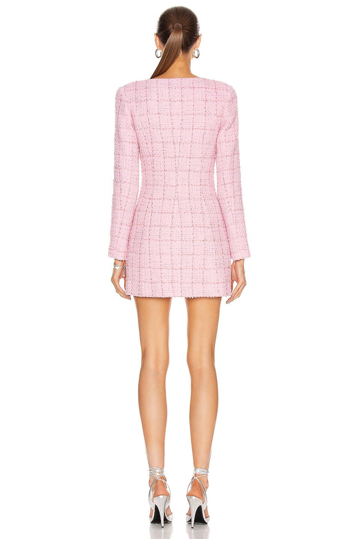 Image 3 of BROGNANO Tweed Mini Dress in Pink