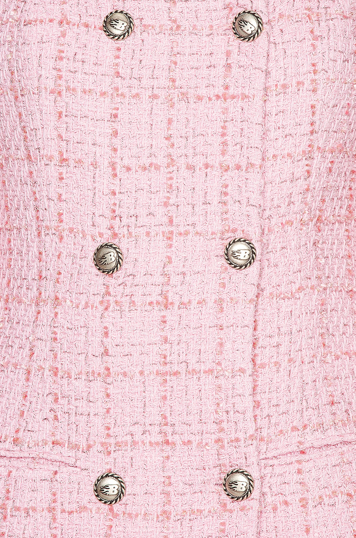 Image 4 of BROGNANO Tweed Mini Dress in Pink