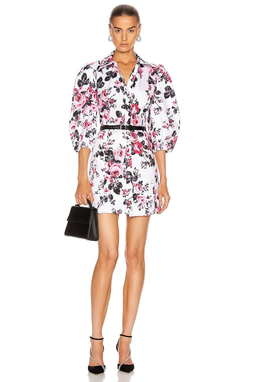 Image 1 of BROGNANO Floral Button Down Mini Dress in Multi
