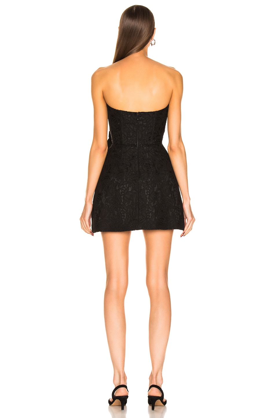 Image 3 of BROGNANO Strapless Bow Mini Dress in Black