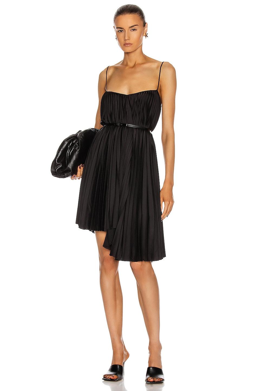 Image 1 of BROGNANO Pleated Mini Dress in Black