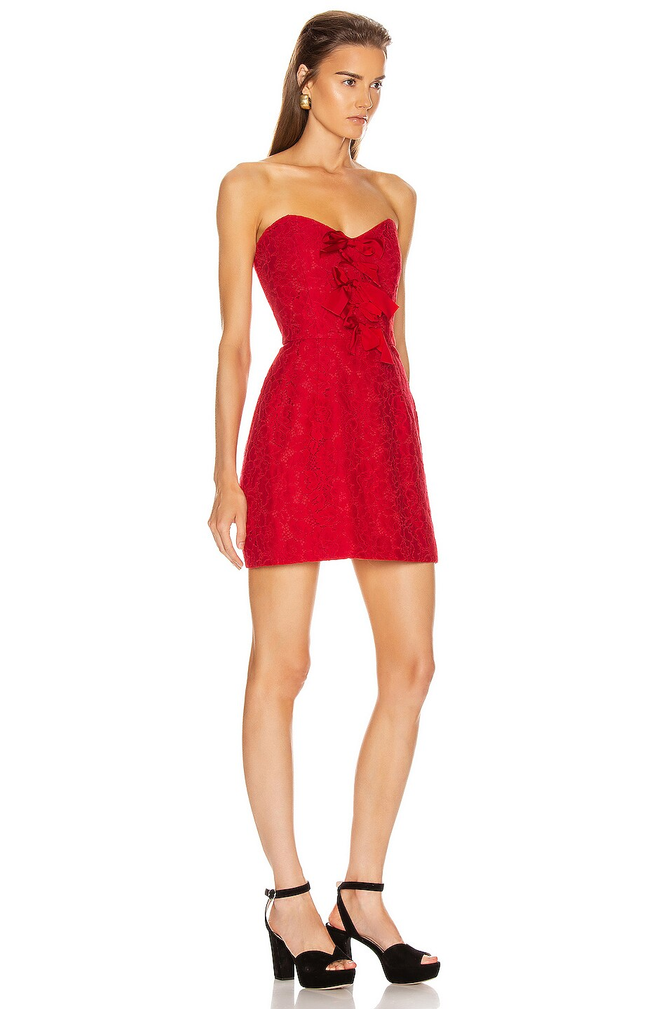 Image 2 of BROGNANO Floral Mini Dress in Red