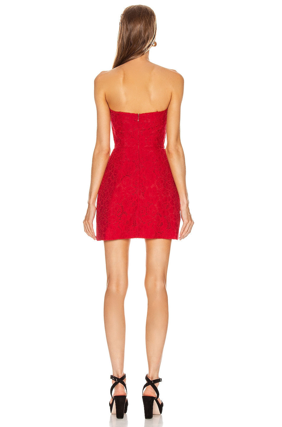 Image 3 of BROGNANO Floral Mini Dress in Red