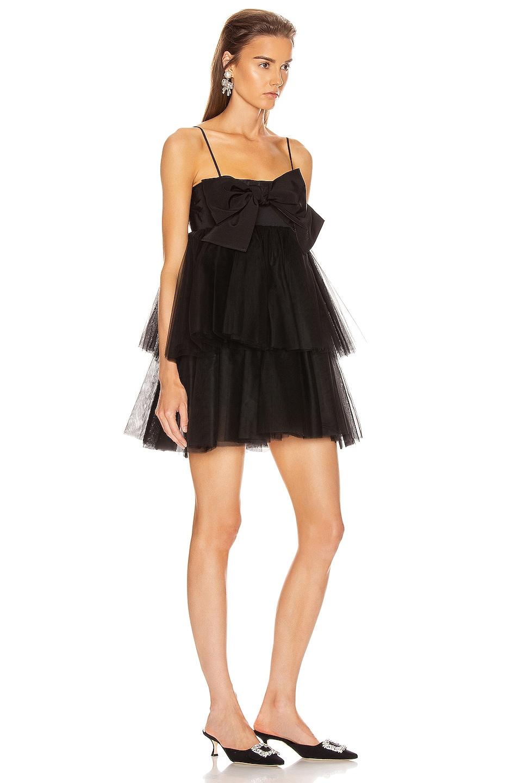 Image 2 of BROGNANO Tulle Mini Dress in Black