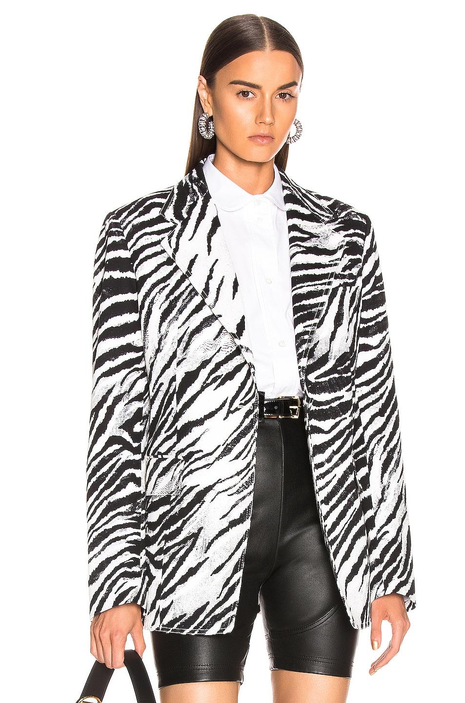 Image 1 of BROGNANO Zebra Blazer in Black & White