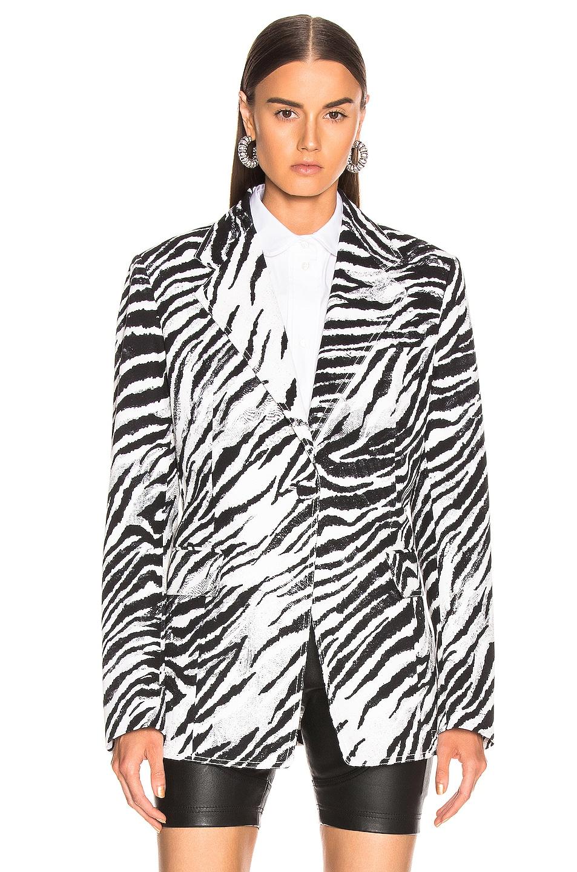 Image 2 of BROGNANO Zebra Blazer in Black & White