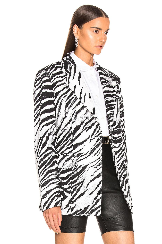 Image 3 of BROGNANO Zebra Blazer in Black & White