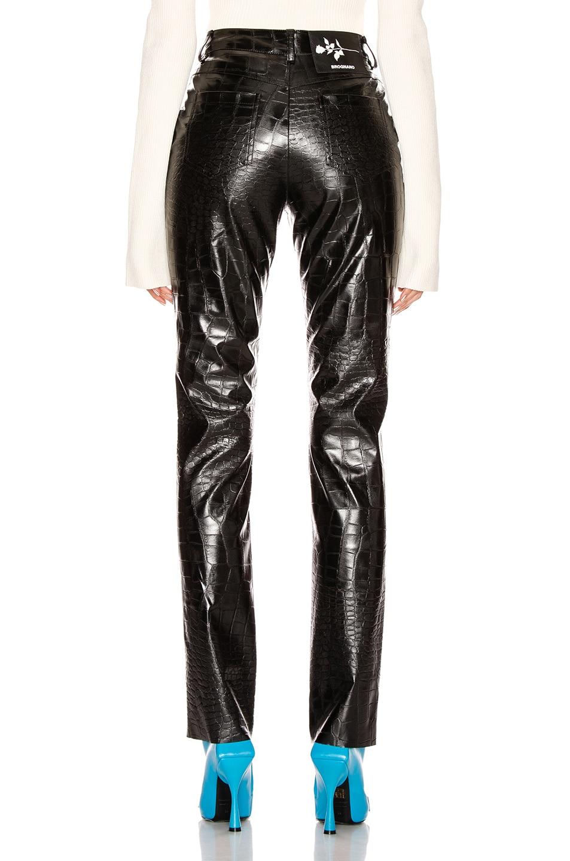 Image 3 of BROGNANO Crocodile Print Skinny Trouser in Black