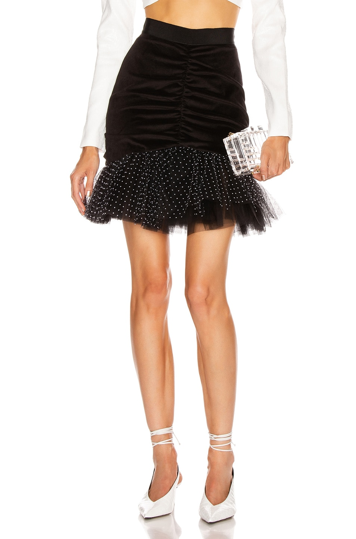 Image 1 of BROGNANO Pencil Mini Skirt in Black