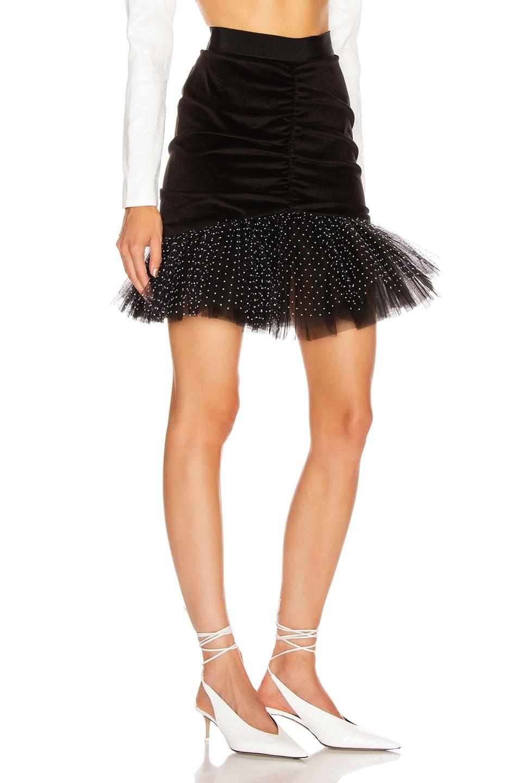 Image 2 of BROGNANO Pencil Mini Skirt in Black