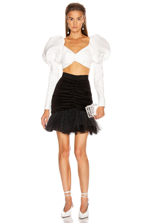 Image 4 of BROGNANO Pencil Mini Skirt in Black