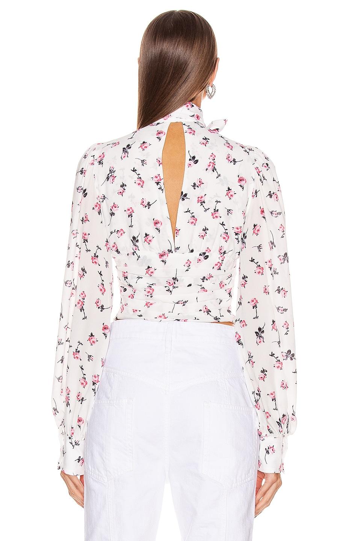 Image 3 of BROGNANO Floral Tie Neck Top in Multi