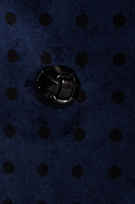 Image 4 of Blaze Milano Oh La La Polka Dot Everyday Double Breasted Blazer in Royal Blue