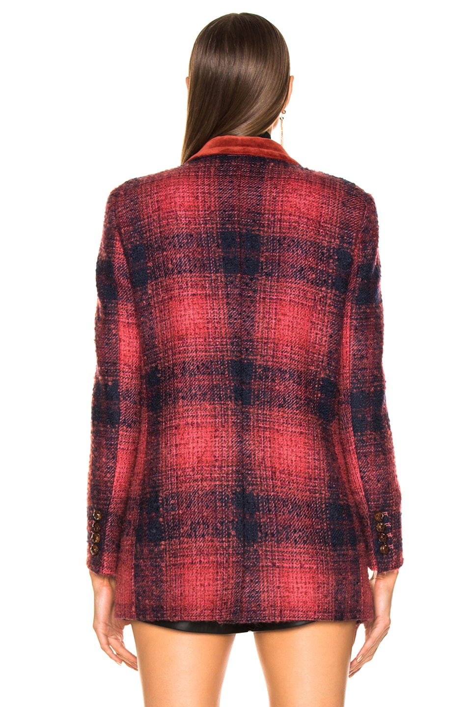 Image 4 of Blaze Milano Hickstead Everyday Double Breasted Blazer in Cherry Tartan