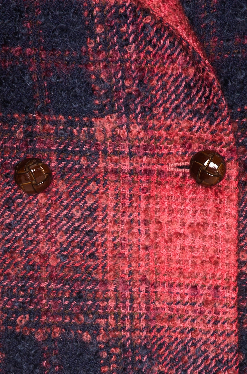 Image 6 of Blaze Milano Hickstead Everyday Double Breasted Blazer in Cherry Tartan