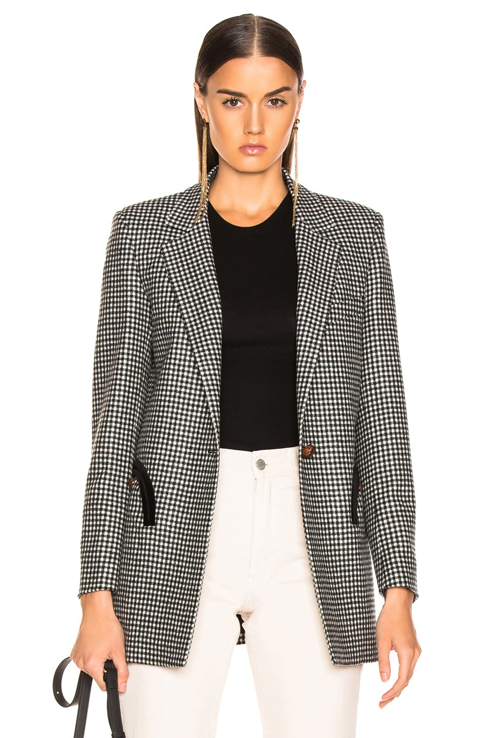 Image 1 of Blaze Milano Fair and Square Timeless Blazer in Black & White Check