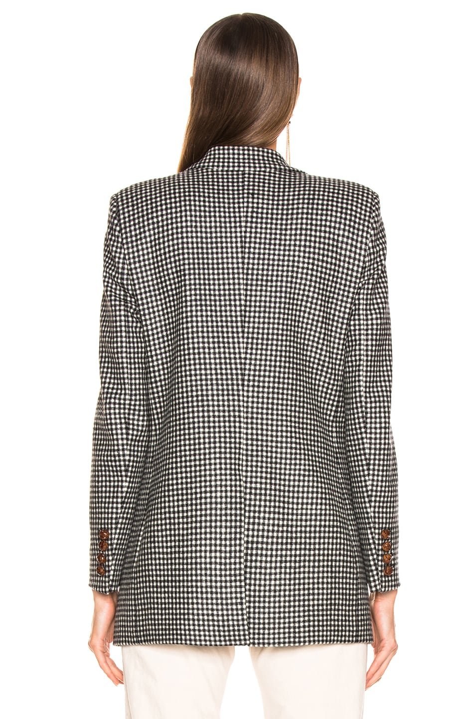 Image 4 of Blaze Milano Fair and Square Timeless Blazer in Black & White Check
