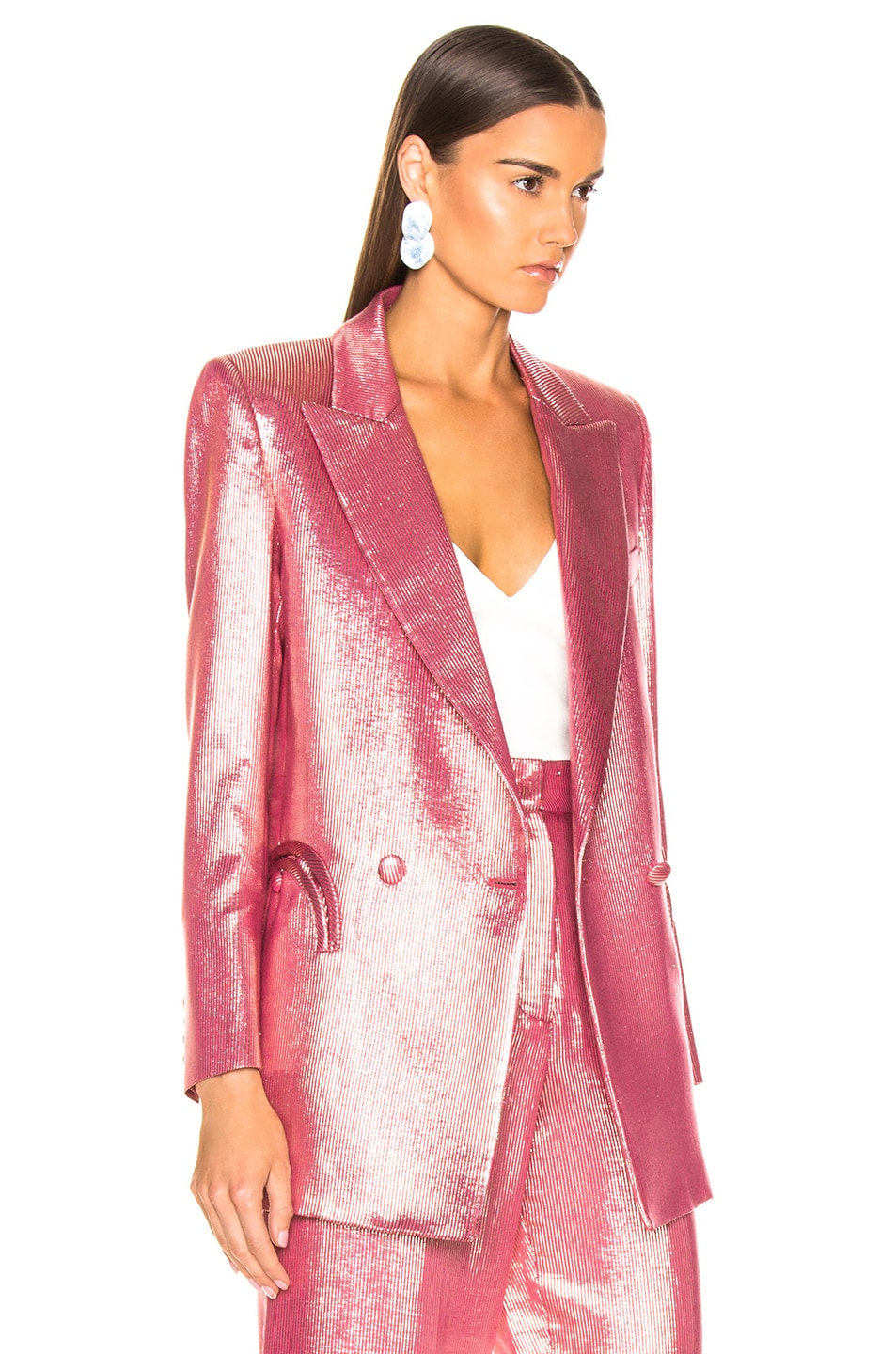 Image 3 of Blaze Milano Diva Royal Everyday Blazer in Pink