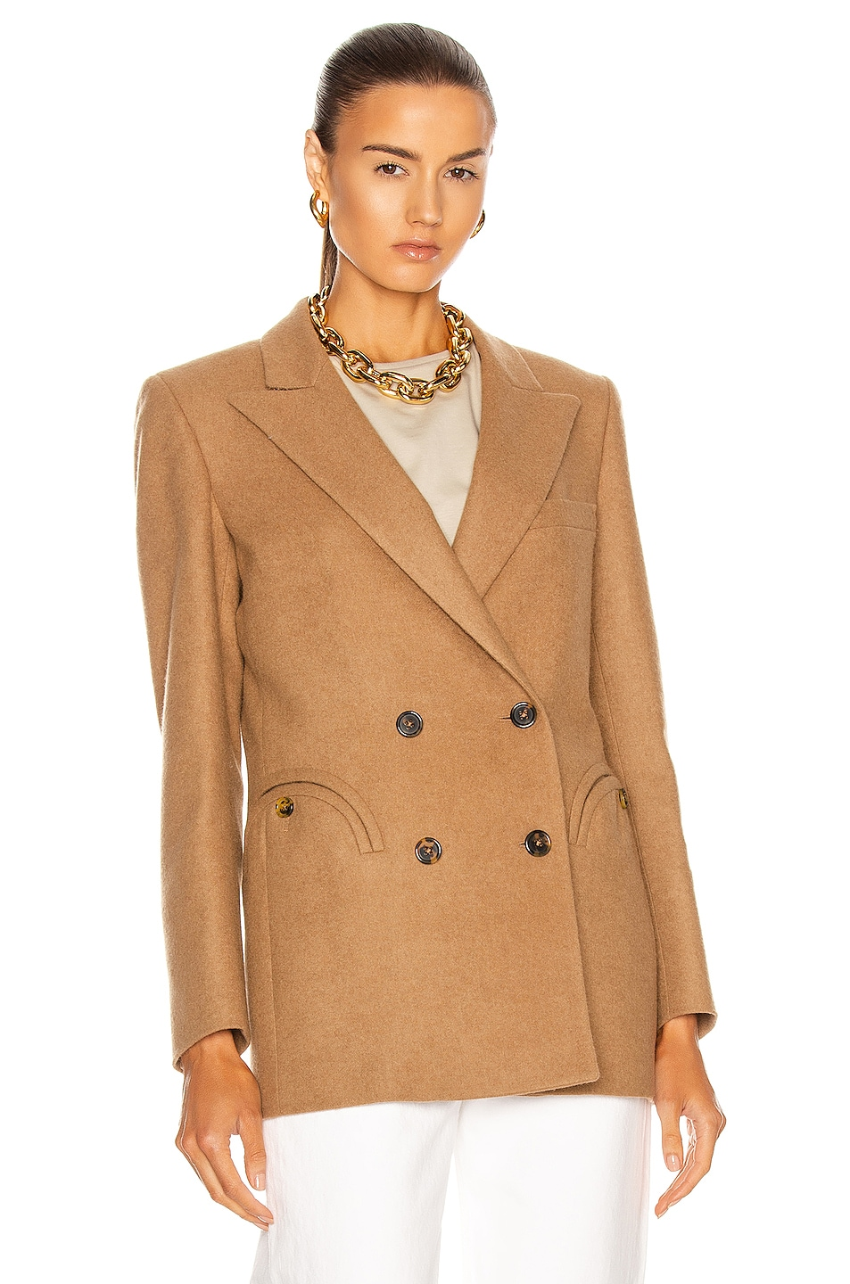 Image 2 of Blaze Milano Essential Cholita Everyday Blazer in Camel