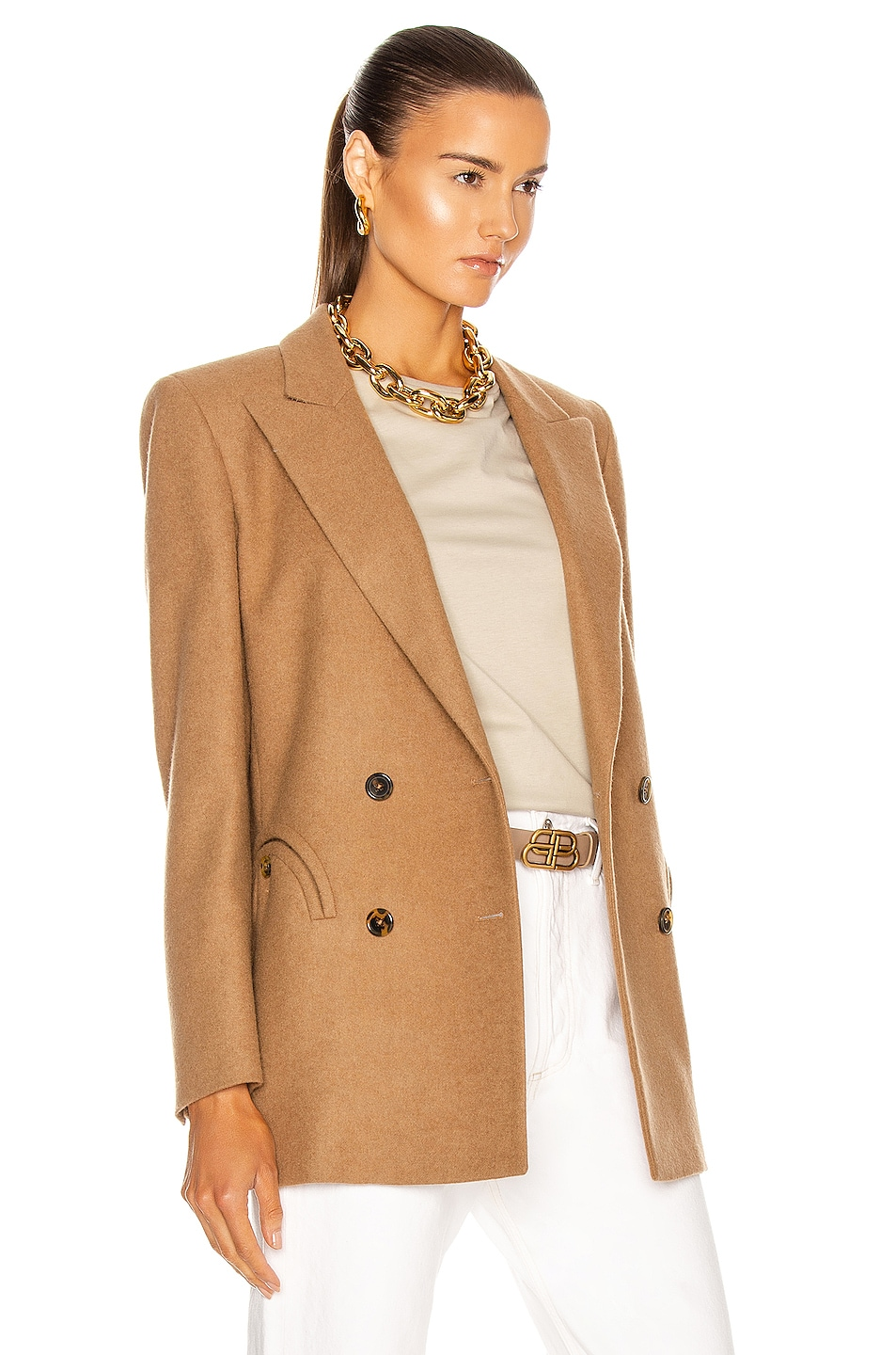 Image 3 of Blaze Milano Essential Cholita Everyday Blazer in Camel