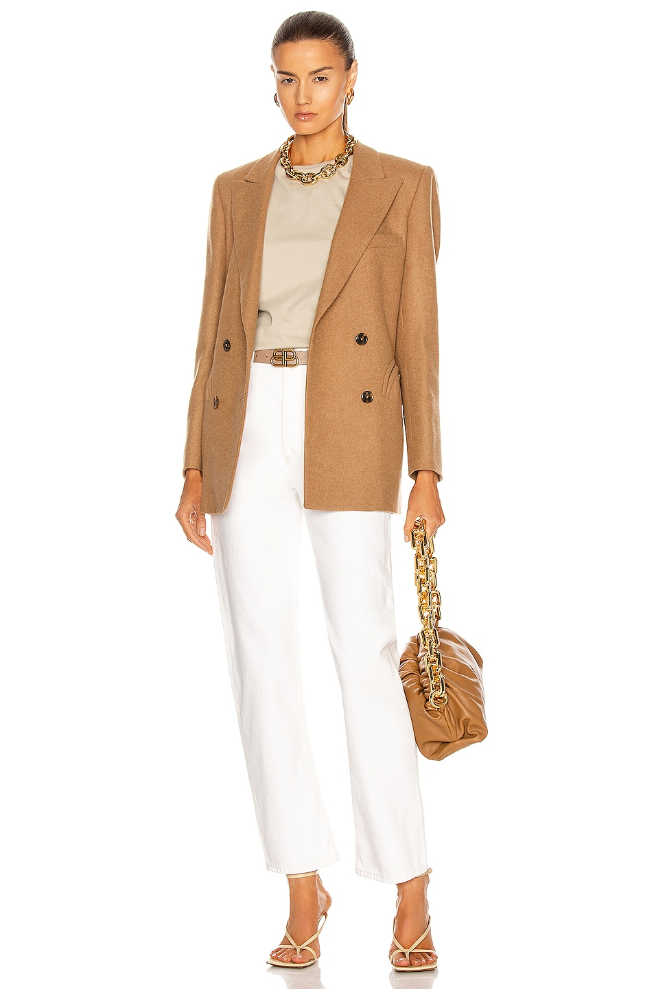 Image 5 of Blaze Milano Essential Cholita Everyday Blazer in Camel