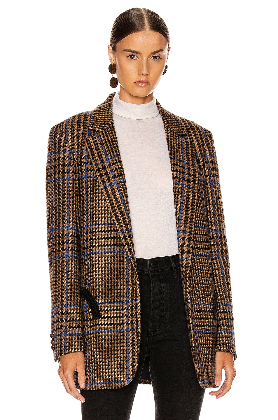 Image 2 of Blaze Milano Cariba Weekend Blazer in Brown Tartan