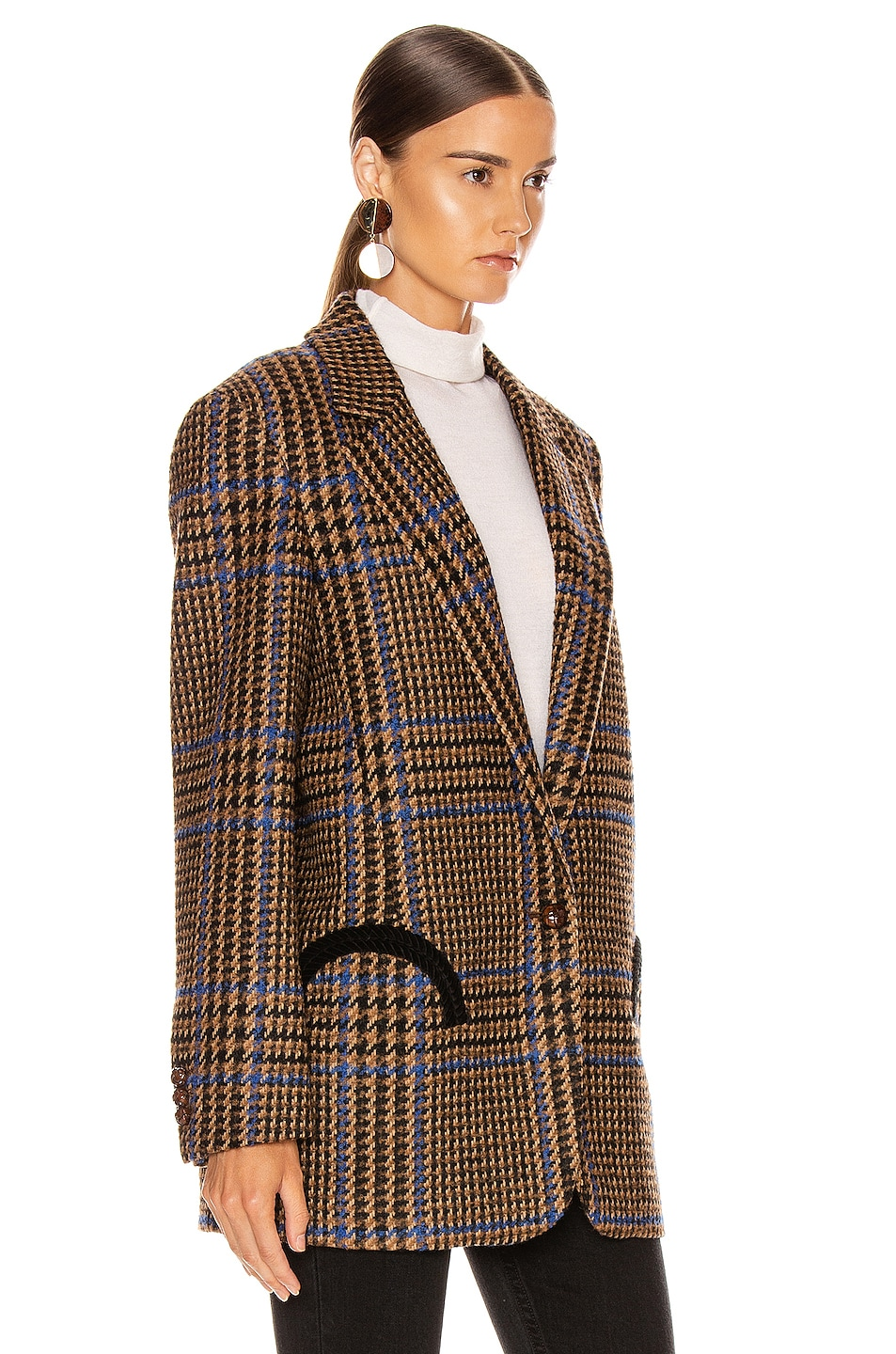 Image 3 of Blaze Milano Cariba Weekend Blazer in Brown Tartan