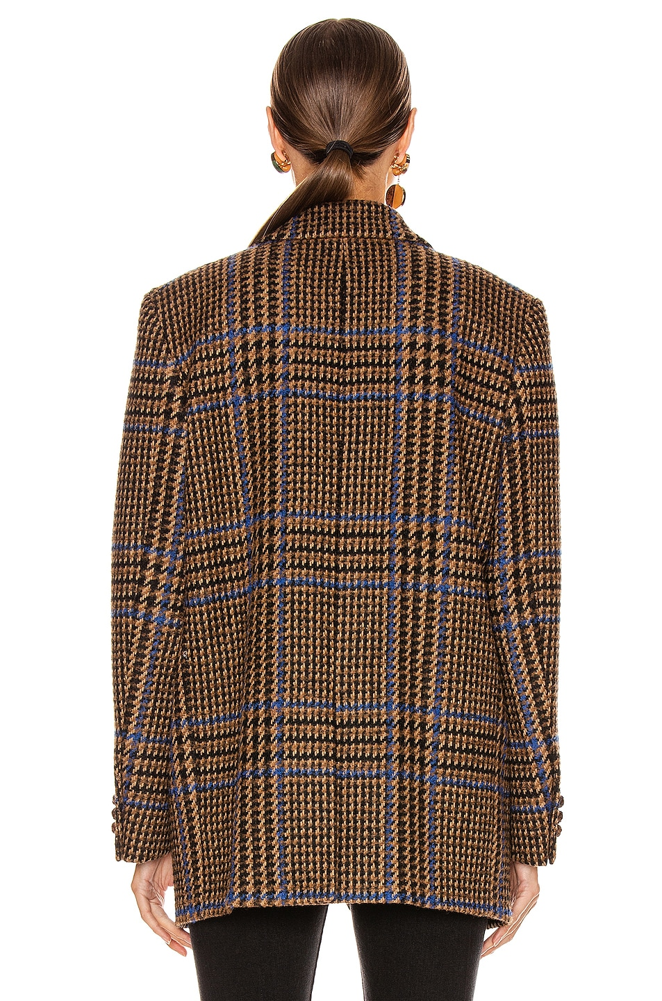 Image 4 of Blaze Milano Cariba Weekend Blazer in Brown Tartan