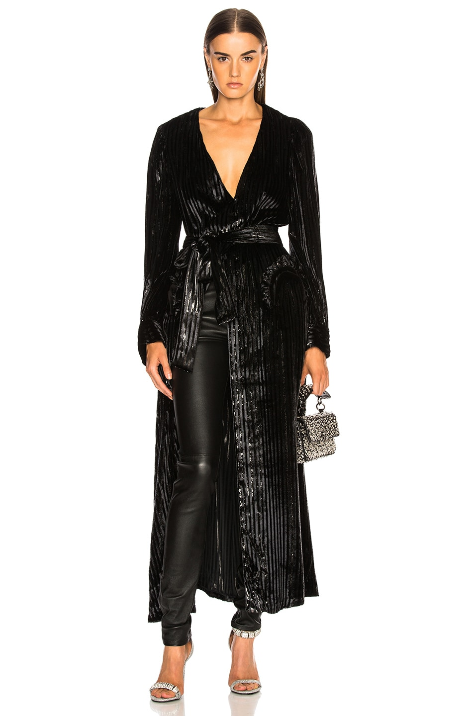 Image 2 of Blaze Milano Vanity Sequin Stripe Ballroom Blazer in Black