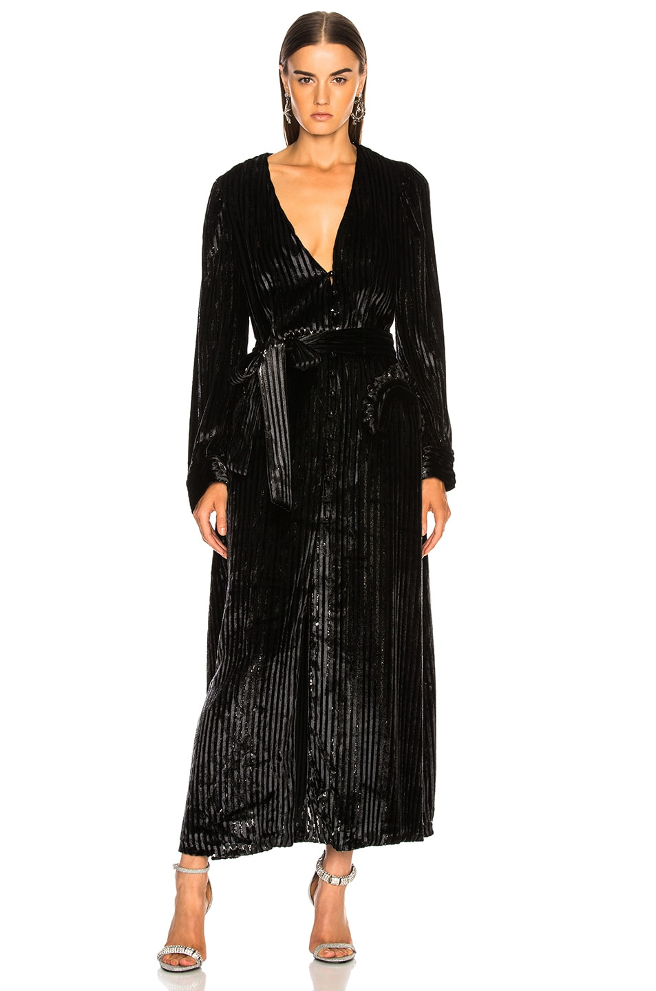 Image 3 of Blaze Milano Vanity Sequin Stripe Ballroom Blazer in Black