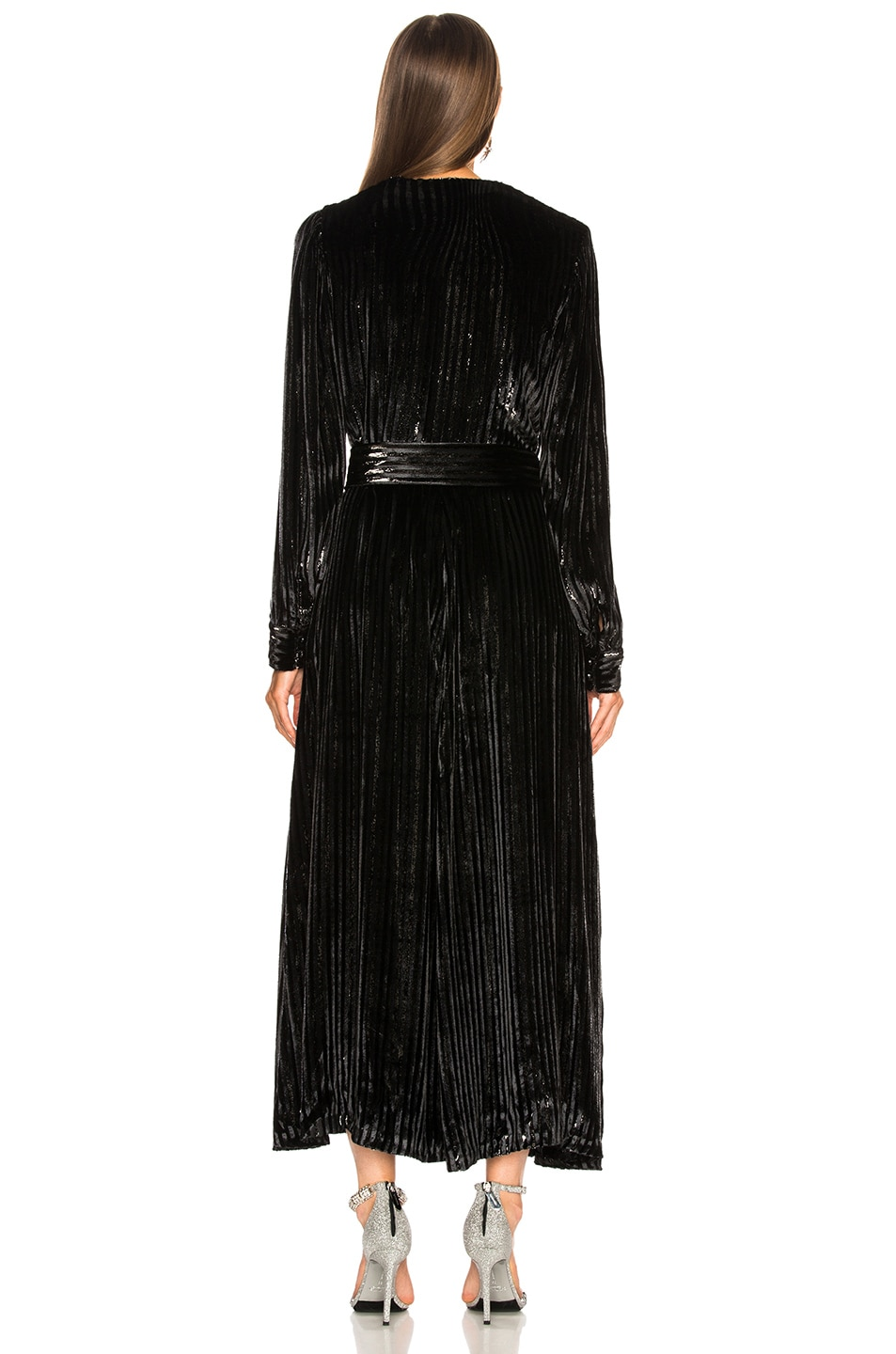 Image 5 of Blaze Milano Vanity Sequin Stripe Ballroom Blazer in Black