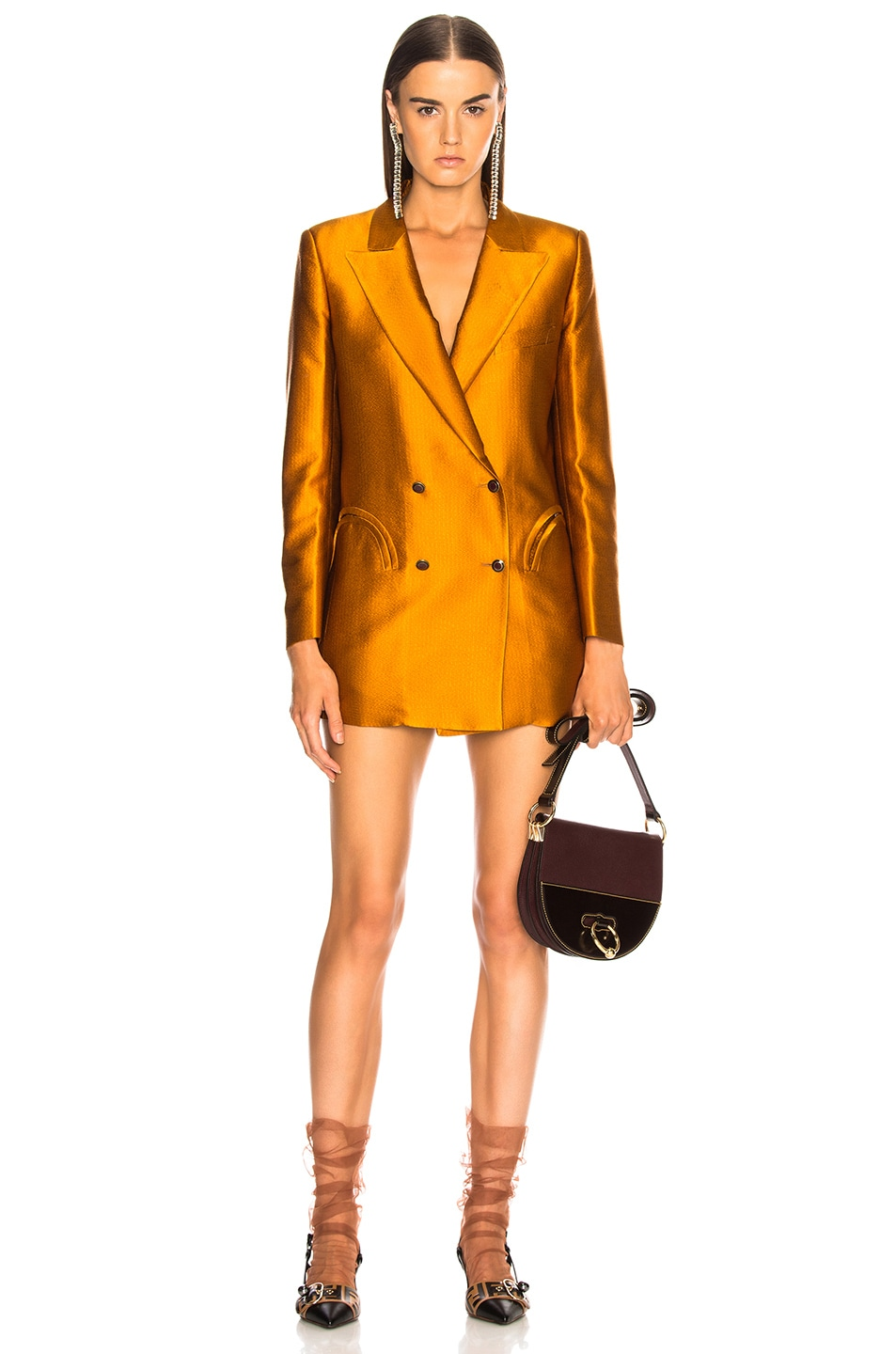 Image 1 of Blaze Milano Let's Fly Everyday Double Breasted Blazer in Amber